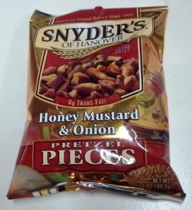 snyder's of hanover, pretzel pieces, honey mustard, hanover pretzel