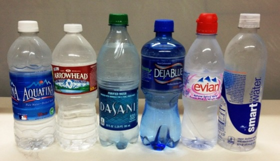 bottled water, evian, arrowhead, aquafina, dasani, smartwater