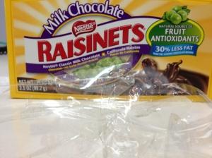 raisinets, chocolate raisins, chocolate covered raisins, movie theater candy, chocolate candies
