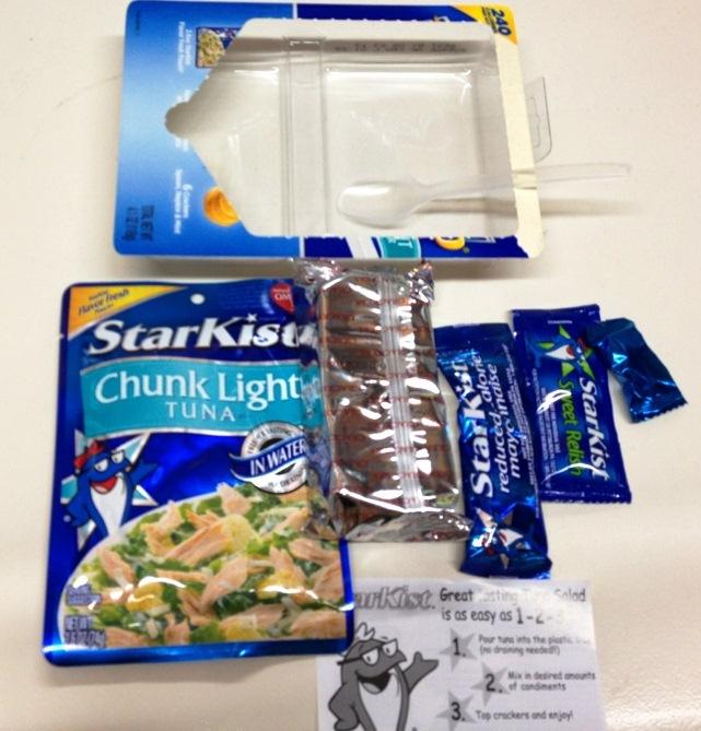 Starkist Tuna Kit : Healthy week starkist lunch to go chunk light gas