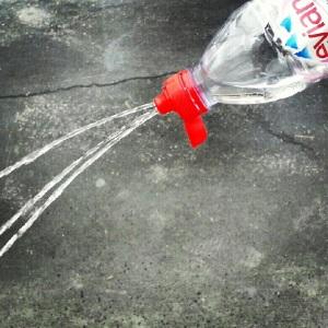 evian, watter bottles, arrowhead, bottled water, clear, stream